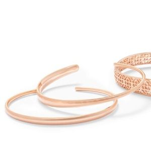 NWOT Kendra Scott cuff bracelet duo in rose gold
